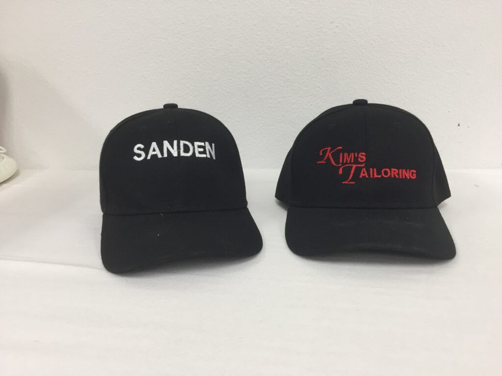 Embroidery on caps